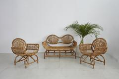 ITALIAN BAMBOO SETTEE AND CHAIRS - 1412940