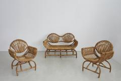 ITALIAN BAMBOO SETTEE AND CHAIRS - 1412941