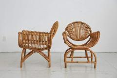 ITALIAN BAMBOO SETTEE AND CHAIRS - 1412942