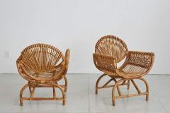 ITALIAN BAMBOO SETTEE AND CHAIRS - 1412944