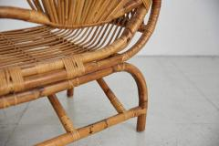 ITALIAN BAMBOO SETTEE AND CHAIRS - 1412958