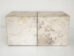 ITALIAN CREAM TRAVERTINE SIDE TABLES OR COFFEE TABLES - 1813002