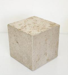 ITALIAN CREAM TRAVERTINE SIDE TABLES OR COFFEE TABLES - 1813003