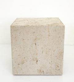 ITALIAN CREAM TRAVERTINE SIDE TABLES OR COFFEE TABLES - 1813006