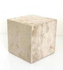 ITALIAN CREAM TRAVERTINE SIDE TABLES OR COFFEE TABLES - 1813007