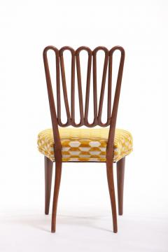 ITALIAN MIDCENTURY SIDE CHAIR AFTER GIO PONTI WITH GOLD AND IVORY CUT VELVET - 1921833