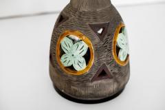 ITALIAN MULTICOLORED CERAMIC FLOOR LAMP - 1068178