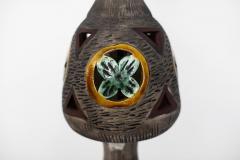 ITALIAN MULTICOLORED CERAMIC FLOOR LAMP - 1068179