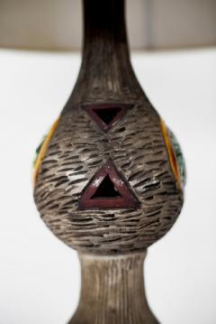ITALIAN MULTICOLORED CERAMIC FLOOR LAMP - 1068181
