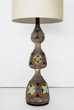ITALIAN MULTICOLORED CERAMIC FLOOR LAMP - 1068182