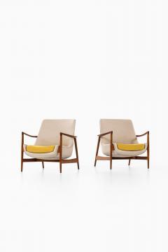 Ib Kofod Larsen Easy Chairs Model 4346 Produced by Fritz Hansen - 1997044