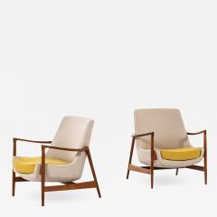 Ib Kofod Larsen Easy Chairs Model 4346 Produced by Fritz Hansen - 1997464