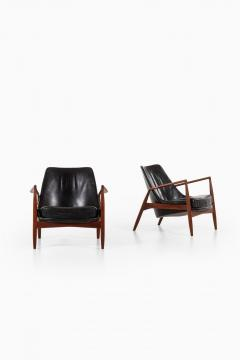 Ib Kofod Larsen Easy Chairs Model S len Seal Produced by OPE - 1951760