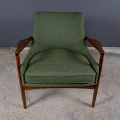 Ib Kofod Larsen Ib Kofod Larsen 1960s Sculpted Lounge Chairin Walnut for Selig - 2168409