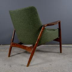Ib Kofod Larsen Ib Kofod Larsen 1960s Sculpted Lounge Chairin Walnut for Selig - 2168420
