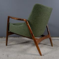 Ib Kofod Larsen Ib Kofod Larsen 1960s Sculpted Lounge Chairin Walnut for Selig - 2168423