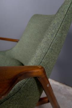 Ib Kofod Larsen Ib Kofod Larsen 1960s Sculpted Lounge Chairin Walnut for Selig - 2168437