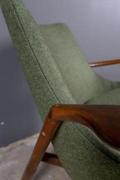 Ib Kofod Larsen Ib Kofod Larsen 1960s Sculpted Lounge Chairin Walnut for Selig - 2168438