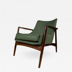 Ib Kofod Larsen Ib Kofod Larsen 1960s Sculpted Lounge Chairin Walnut for Selig - 2174595