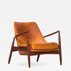 Ib Kofod Larsen Ib Kofod Larsen Easy Chair Model S len Seal Produced by OPE in Sweden - 1785294