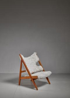 Ib Kofod Larsen Ib Kofod Larsen Limited Edition Sheepskin Knitting Chair Denmark 1951 - 810851