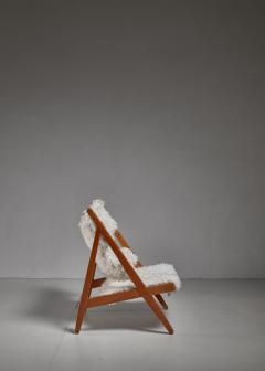 Ib Kofod Larsen Ib Kofod Larsen Limited Edition Sheepskin Knitting Chair Denmark 1951 - 810862