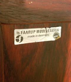 Ib Kofod Larsen Ib Kofod Larsen Rosewood Tambour Sideboard Faarup M belfabrik Denmark 1960s - 1819348