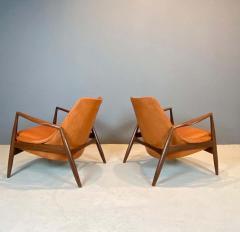 Ib Kofod Larsen Ib Kofod Larsen Seal Chairs in Afromosia Wood 1956 - 1749630