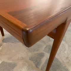 Ib Kofod Larsen Ib Kofod Larsen Solid Teak Wood Dining Table Extendable Elegance 1960s Modern - 2032971