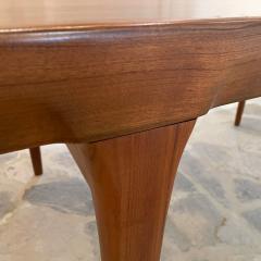 Ib Kofod Larsen Ib Kofod Larsen Solid Teak Wood Dining Table Extendable Elegance 1960s Modern - 2032972
