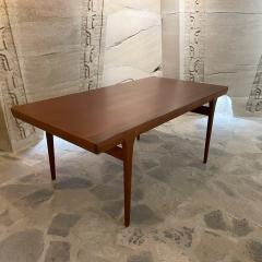 Ib Kofod Larsen Ib Kofod Larsen Solid Teak Wood Dining Table Extendable Elegance 1960s Modern - 2032974