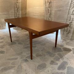 Ib Kofod Larsen Ib Kofod Larsen Solid Teak Wood Dining Table Extendable Elegance 1960s Modern - 2032984