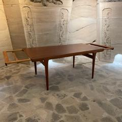 Ib Kofod Larsen Ib Kofod Larsen Solid Teak Wood Dining Table Extendable Elegance 1960s Modern - 2032990