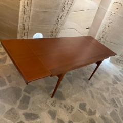 Ib Kofod Larsen Ib Kofod Larsen Solid Teak Wood Dining Table Extendable Elegance 1960s Modern - 2032996