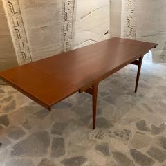 Ib Kofod Larsen Ib Kofod Larsen Solid Teak Wood Dining Table Extendable Elegance 1960s Modern - 2032999