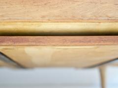 Ib Kofod Larsen Ib Kofod Larsen Teak and White Fabric Upholstered Daybed - 1194855