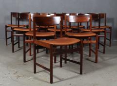 Ib Kofod Larsen Ib Kofod Larsen Ten rosewood dining chairs 10  - 2020496