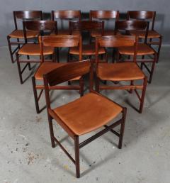 Ib Kofod Larsen Ib Kofod Larsen Ten rosewood dining chairs 10  - 2020497
