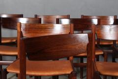 Ib Kofod Larsen Ib Kofod Larsen Ten rosewood dining chairs 10  - 2020498