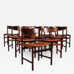 Ib Kofod Larsen Ib Kofod Larsen Ten rosewood dining chairs 10  - 2022538