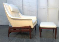 Ib Kofod Larsen Ib Kofod Larsen for Povl Dinesen Danish Lounge Chair and Ottoman - 1765927