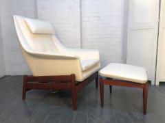 Ib Kofod Larsen Ib Kofod Larsen for Povl Dinesen Danish Lounge Chair and Ottoman - 1765928