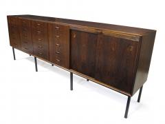 Ib Kofod Larsen Large Brazilian Rosewood Sideboard with Twenty Drawers - 1067935