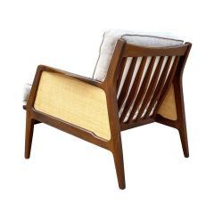 Ib Kofod Larsen Mid Century Danish Modern Lounge Chair by IB Kofod Larsen in Walnut Rafia - 2058979
