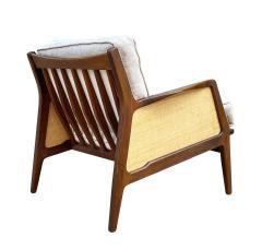 Ib Kofod Larsen Mid Century Danish Modern Lounge Chair by IB Kofod Larsen in Walnut Rafia - 2058988