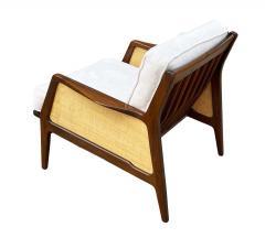 Ib Kofod Larsen Mid Century Danish Modern Lounge Chair by IB Kofod Larsen in Walnut Rafia - 2058992