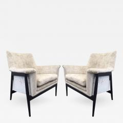 Ib Kofod Larsen Pair of Danish Modern Lounge Chairs Ib Kofod Larsen - 445696