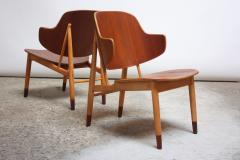 Ib Kofod Larsen Pair of Danish Sculptural Shell Chairs by Ib Kofod Larsen in Teak and Beech - 877619