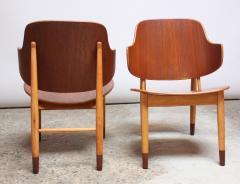 Ib Kofod Larsen Pair of Danish Sculptural Shell Chairs by Ib Kofod Larsen in Teak and Beech - 877623