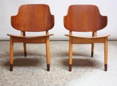 Ib Kofod Larsen Pair of Danish Sculptural Shell Chairs by Ib Kofod Larsen in Teak and Beech - 877625